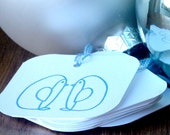 Penguin Love Christmas \/ Holiday Gift Tag - set of 5
