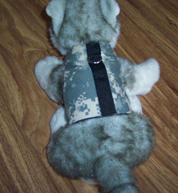 Dog/Cat Vest With Leash Ring - ACU US Army Made In The USA