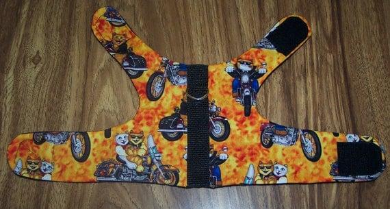 Dog /Cat Vest W/ Leash Ring - Biker Cats
