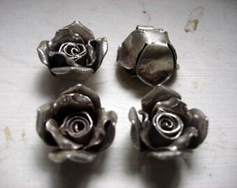 1 Beautiful  Hilltribe silver rose pendant  - 24 mm 9.5 grams