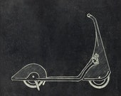 1940 Art Deco Scooter PRINT
