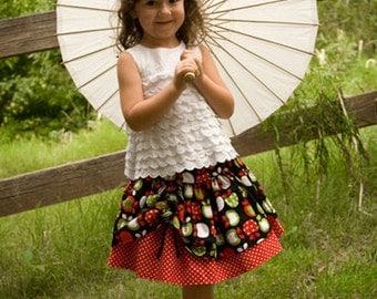 Girls skirt pattern, INSTANT DOWNLOAD, PDF sewing pattern, Aubrey, 12 months - size 8