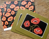 Poppy Note Cards on Sale