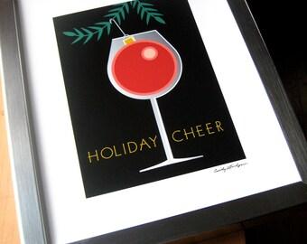 Wine Holiday Cheer Giclee print