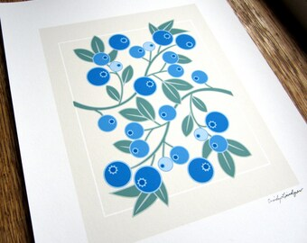 Wild Blueberry Art Print