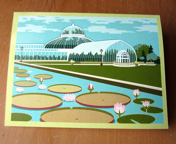 St. Paul Conservatory with Lily Pads Note Card