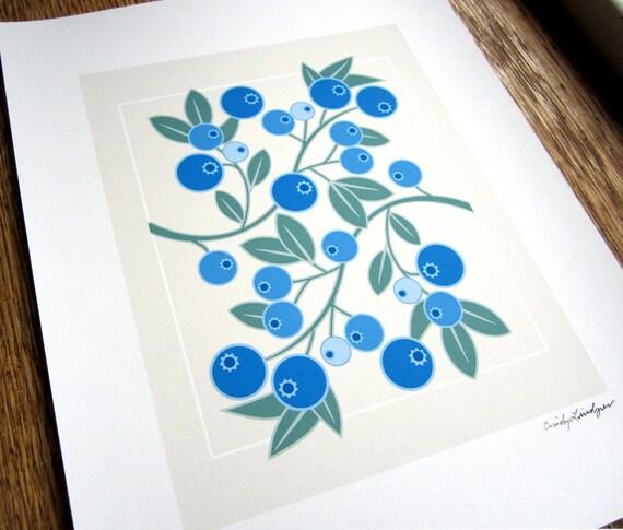 Wild Blueberry Art Print
