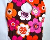 Best Bib Ever - Orange Flora and Callie Bloom