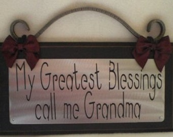 My GREATEST BLESSINGS Call Me GRANDMA Wall Sign Plaque Home Decor gift item