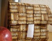 Wine corks print lunch wrap eco-friendly