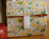 Musical daisies print eco-friendly food wrap