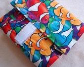 Rainbow fish print eco-friendly food wrap