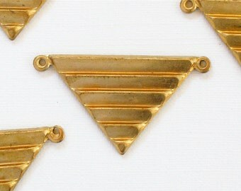 3 TRIANGLE geometric jewelry pendant . 17mm x 29mm (ST67)