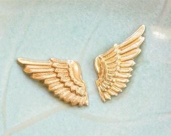4 Sets (8 pcs) of brass Fairy Angel Wings . (FF6b)