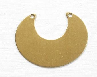 5 crescent jewelry pendant necklace bibs. 45mm x 34mm (ST203c). Please read description.