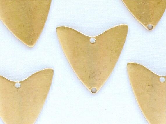 12 TRIANGLE geometric jewelry charm. 21mm x 20mm (S39a). Please read description