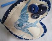 Love Takes Flight Blue Bird Headband Fascinator