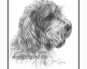 PBGV Dog Fine Art Note Cards - set of Four