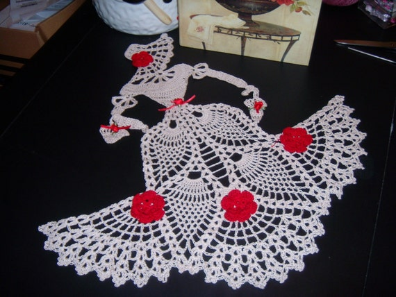 Items Similar To Vctorian Doll Doily Hand Crochet On Etsy