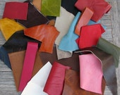 RESERVED SHOP CLOSING Selling off Leather Scraps Destash - 1 Pound - Great Price