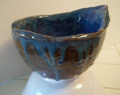 Organic Brown and Blue Bowl