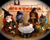Halloween primitive raggedy ann doll