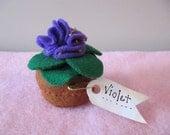 Pincushion - Pot of Violets