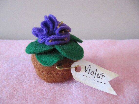 Pincushion - Pot of Violets