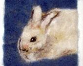 "008 ""Angora Bunny"" Thyme Tile Needle Felting Pattern Kit"
