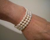 Wedding Bracelet Swarovski Pearl rhinestone beads Bridal Bracelet Wedding jewelry Wedding Accessory Pearl Bracelet, Jessie