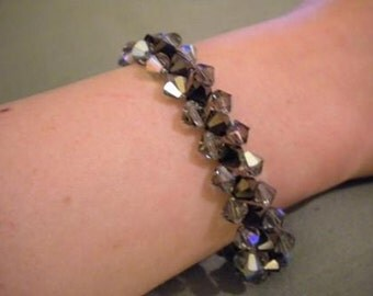 Swarovski Crystal Woven Bracelet crystal bracelet bridal bracelet