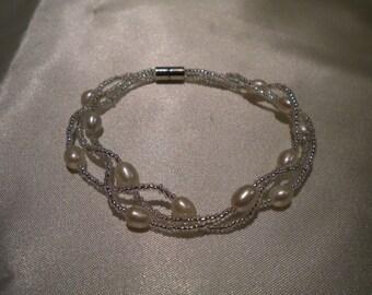 Freshwater Pearls, pearl bracelet, Seed Bead, Bridesmaid Bracelets