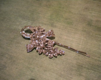 bridal hairpin, bridal jewelry, wedding accessories, rhinestone, Jaycee collection