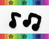 PATTERN-Crochet Musical Notes Applique-Detailed Photos