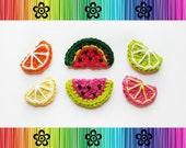 PATTERN-Fruit Applique-Orange, Lime, Lemon, Grapefruit and Watermelon-Detailed Photos