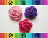 PATTERN-Crochet Roses-3 Styles-Detailed Photos