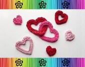 Valentine Heart Appliques - CROCHET PATTERN