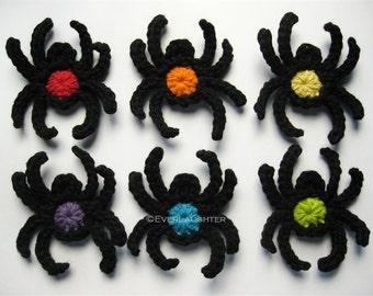 PATTERN-Crochet Spider Applique-Detailed Photos