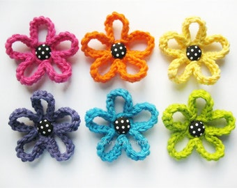 PATTERN-Crochet Loopy Flower-Detailed Photos