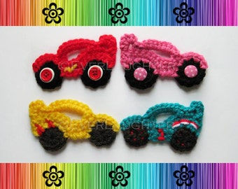 Race Car Applique - CROCHET PATTERN