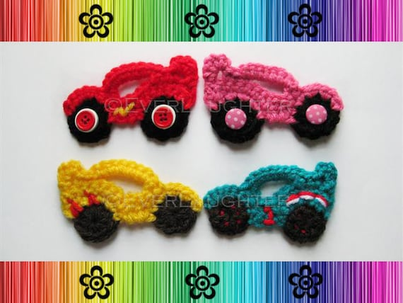 Race Car Applique - CROCHET PATTERN