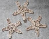 Crochet Starfish Set of 12 - Reserved for Denise