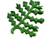 Crochet Fern Leaf Embellishment, Applique