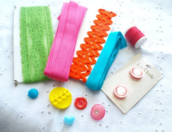 Neon Inspiration Kit Sewing Supplies Scrapbooking Supplies