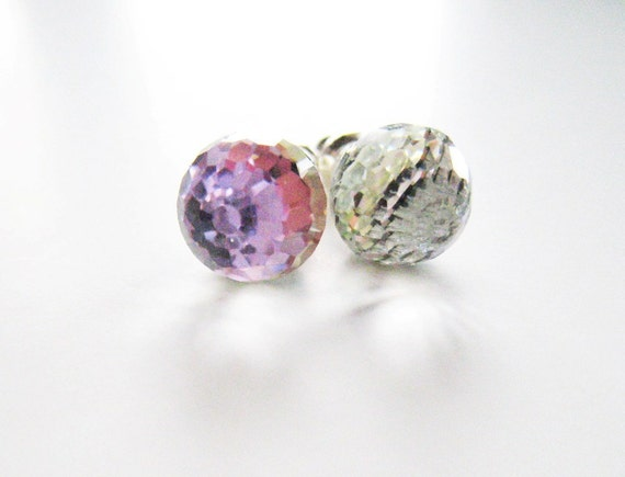 Rainbow crystal earrings.  Swarovski earrings.  Crystal stud earrings.  Crystal post earrings.  Rainbow earrings.  Multicolor earrings.