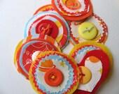 Red, Orange, Blue, Yellow Roundies