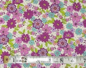 Purple Flowers Fabric Fat Quarter