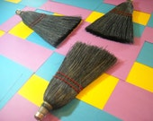 hand broom fireplace tool black dyed broom corn whisk great for car or wood stove whisk type country colors