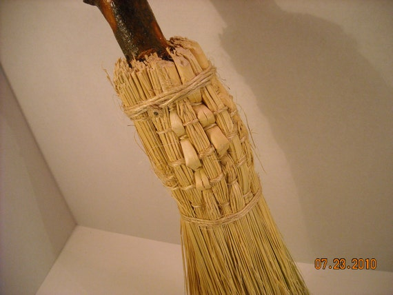 Fireplace or Hearth Broom-Besom- corn-broom-Wicca-Pagen-round brooms