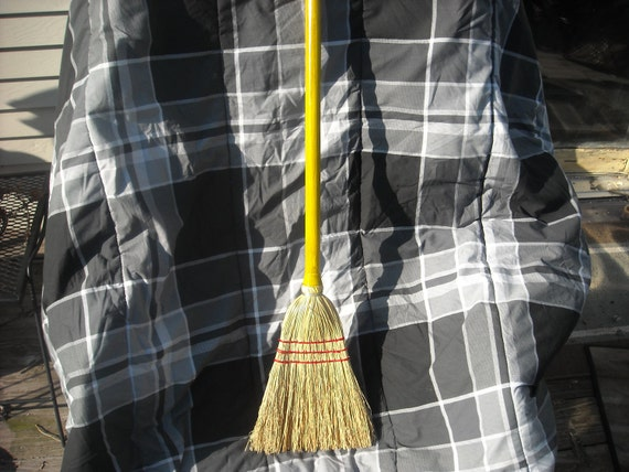 Child Broom Choice of Color-Toy Broom that works well- Kid's size Handmade Corn Brooms-fun Easter gift in yellow